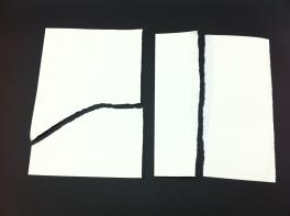Buscant la fibra del paper.